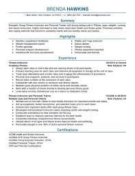 Designing Personal Training Programs Best Fitness And Personal Trainer Resume Example