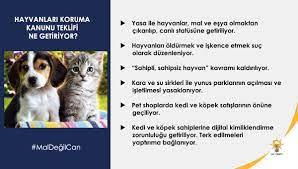 """AK PARTİ PERTEK 🇹🇷🇹🇷 on Twitter: """"'Hayvanları Koruma Kanunu' teklifi  bugün TBMM Başkanlığına sunulmuştur.Yasa ile hayvanların bir mal ve eşya  olmaktan çıkarılıp,canlı statüsüne getirilmesi öngörülmektedir.Hayırlı  olsun #MalDeğilCan @erkankandemir ..."""