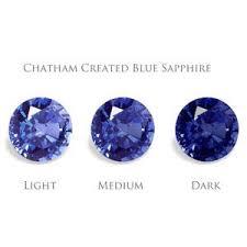 Sapphire Rating Chart Blue Sapphire Gems Chatham Inc