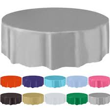 84 disposable round plastic tablecloth table cover for wedding party restaurant