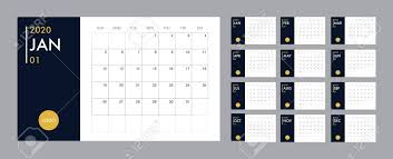 Planner 2020 Template Calendar 2020 Template Planner Vector Diary In A Minimalist Style