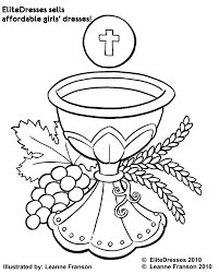 First Communion Dress Coloring Pages - Free and Printable