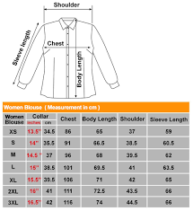 Blouse Size Chart Size Chart Sin Mue Mue Pte Ltd