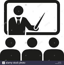 Symbol For Teacher The Training Icon Teacher And Learner Classroom Presentation