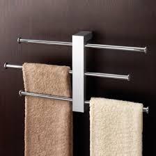 Image Modern Bath Polished Chrome Wall Mounted Towel Rack With 16 Inch Sliding Rails Gedy 763013 Thebathoutletcom Contemporary Modern Towel Bars Thebathoutlet