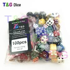 T&G Random Dice <b>Wholesale Bulk</b> Plastic Multi sided <b>100pcs</b>/<b>set</b> In ...