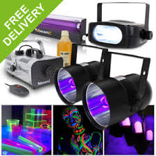 halloween lighting effects machine. Image Is Loading Halloween-Party-In-A-Box-UV-Glow-Light- Halloween Lighting Effects Machine