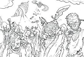 scary zombie coloring pages all page colouring
