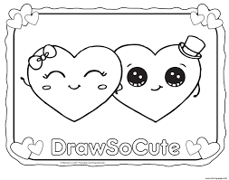 Valentine Hearts Draw So Cute Coloring Pages Printable Very Cute