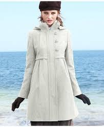 dkny jackets women coat empire waist wool blend hooded coats macys womens