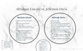 Jefferson Davis Vs Abraham Lincoln Chart Abraham Lincoln Vs Jefferson Davis By Rona Mejiritski On Prezi