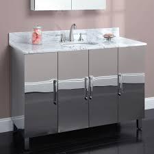 steel bathroom vanity. Metal Bathroom Vanity Silver Steel 2