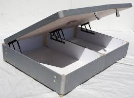 lift storage bed. Modren Storage 4ft6 Double Ottoman Gas Lift Storage Bed Base Grey 1 Throughout O