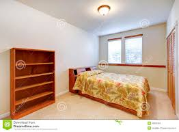 Simple Bedroom Furniture Warm Simple Bedroom With Wooden Furniture Royalty Free Stock Photo
