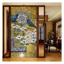 zffm107 glass mosaic hotel wall art