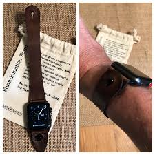 my watchon stud custom sized leather band