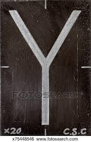 Alphabet Letter Y Stock Photograph