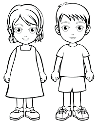 Boy And Girl Coloring Pages 13935 Pilgrim Girl Coloring Pages