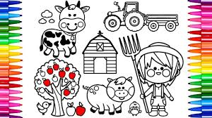 Girl Farmer Coloring Pages 2018 Open New Viettiinfo