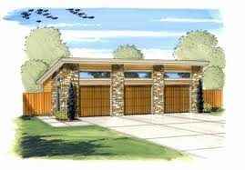 Modern Garage Plan with 3 Bays - 62636DJ thumb - 02