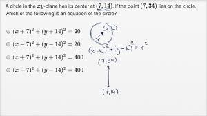 Circle Formula Chart Circle Equations Harder Example