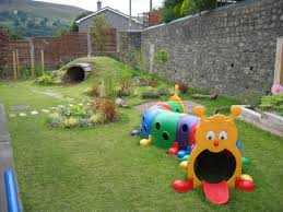 Creative Tunnels With Cute Character As Playground For Backyard Landscape  Ideas In Small Space
