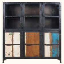 Metal Kitchen Storage Cabinets Industrial Iron Rustic Reclaimed Wood Buffet Kitchen Storage