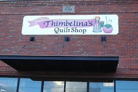 Outside shots of businesses in Livingston, Montana. Thumbelina's ... & Outside shots of businesses in Livingston, Montana. Thumbelina's Quilt Shop. Adamdwight.com