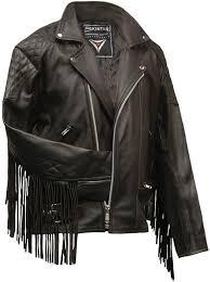 leather motorcycle fringed jackets classic mens leather jacket skintan