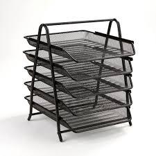 desk paper tray. Perfect Desk Mind Reader 5Tier Steel Mesh Paper Tray Desk Organizer Black To O