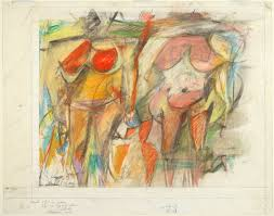 willem de kooning two women s torsos 1952 pastel and charcoal on ivory paper
