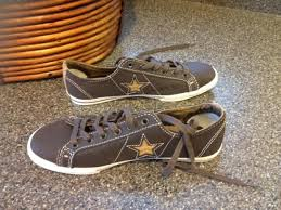 converse classic hash all star low top brown leather sneaker womens 4 5 ymens 3