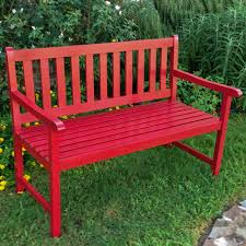kd garden bench red view images