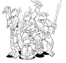 Ninja Turtles Coloring Pages To Print Coloring Pages Printable