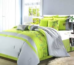 lime green bedding sets duvet cover and grey