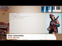 Santana Europa Chord Chart Europa Carlos Santana Piano Backing Track With Chords
