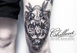 татуировка тигр значение фото Chillout Tattoo Workshop