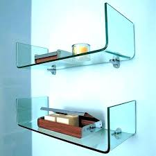 glass shelf brackets glass shelves floating