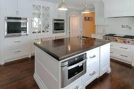 island with microwave drawer kitchen shelf