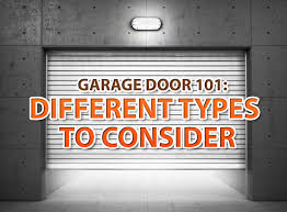Garage Door 101: Different Types to Consider
