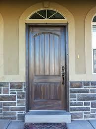 Wood Grain Exterior Doors