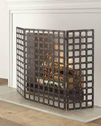 quick look prodselect checkbox woven iron nailhead fireplace screen