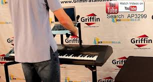 double piano keyboard and laptop stand by griffin