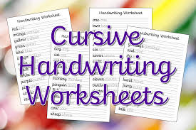 These free phonics worksheets explore the different ways that letters may sound. Cursive Handwriting Worksheets Free Printable Mama Geek