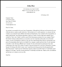 Assistant Cover Letter Sample Professional Program Assistant Cover Letter Sample Writing Guide