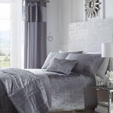 details about grey dove stylish soft velvet duvet quilt cover set luxury beautiful bedding