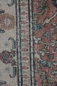 cotton jute natural coloured printed stonewashed dhurrie rug