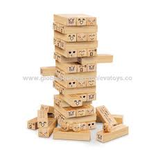 Games With Wooden Blocks Adorable China DIY Stacking Wooden Tumbling Tower Blocks Game For Children
