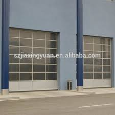 Unique Industrial Glass Garage Door High Speed Aluminum E In Inspiration Decorating