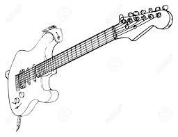 Pin drawn guitar rock guitar 1